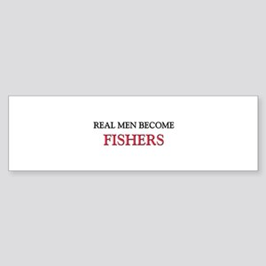 Real Men Become Fishers Bumper Sticker