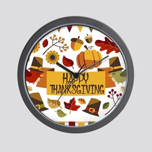 happy thanksgiving day! Wall Clock