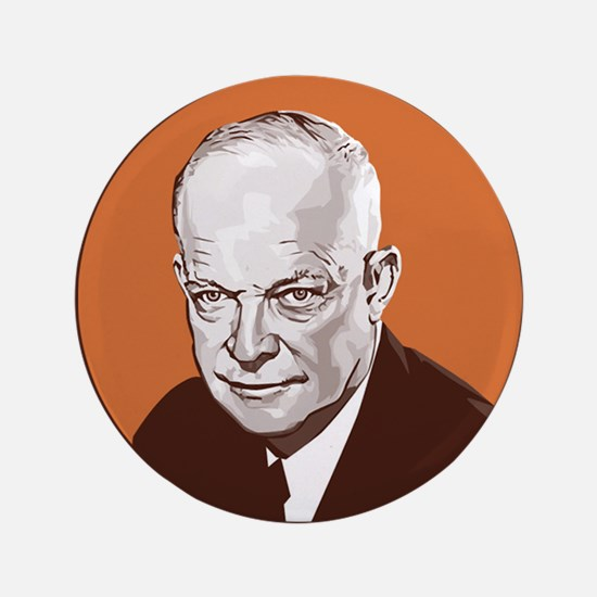 "Cute Dwight d eisenhower 3.5"" Button"