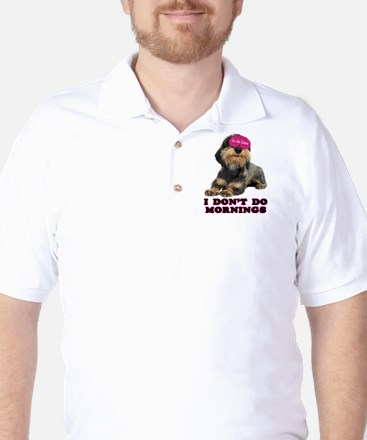 Wirehaired Dachshund Mornings Golf Shirt