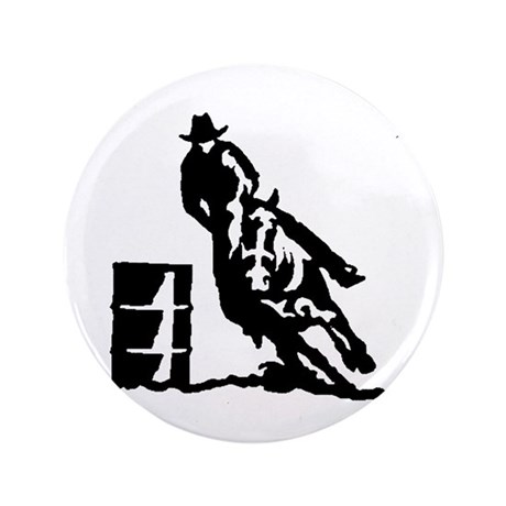 "Barrel Racing 3.5"" Button (100 pack)"
