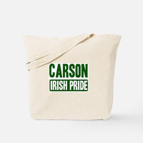 Carson irish pride Tote Bag