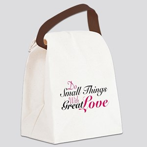 Do Small Things Canvas Lunch Bag