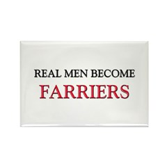Real Men Become Farriers Rectangle Magnet (10 pack