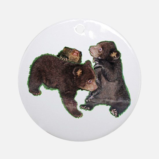 Bear cubs Round Ornament