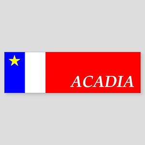 Flag of Acadia Bumper Sticker (EN)
