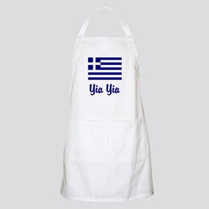 Yia Yia with Greek Flag Apron