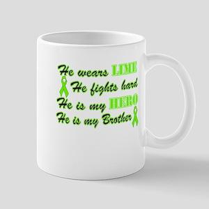 He is a Brother and Hero Lime Mug