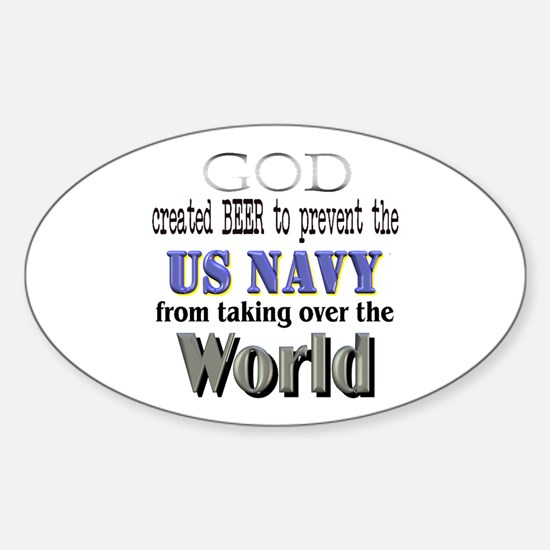 US Navy Beer Oval Decal