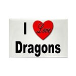 I Love Dragons Rectangle Magnet (10 pack)