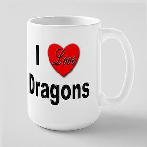 I Love Dragons Large Mug