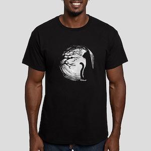 Night Cat Men's Fitted T-Shirt (dark)