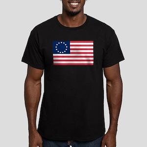 Betsy Ross flag Men's Fitted T-Shirt (dark)