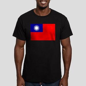 Taiwan Men's Fitted T-Shirt (dark)