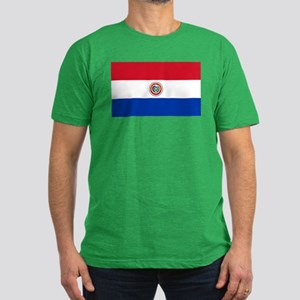 Paraguay Men's Fitted T-Shirt (dark)
