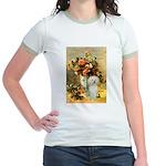 Vase / Poodle (White) Jr. Ringer T-Shirt