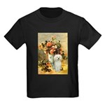 Vase / Poodle (White) Kids Dark T-Shirt