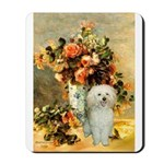 Vase / Poodle (White) Mousepad