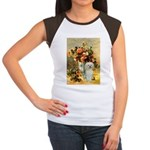 Vase / Poodle (White) Women's Cap Sleeve T-Shirt