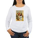 Vase / Poodle (White) Women's Long Sleeve T-Shirt