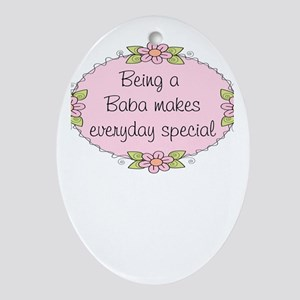 Baba Special Oval Ornament