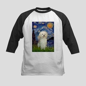 Starry / Poodle (White) Kids Baseball Jersey