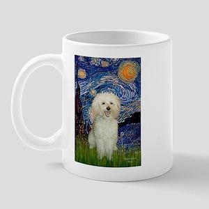 Starry / Poodle (White) Mug