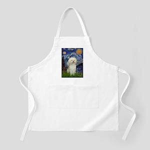 Starry / Poodle (White) Apron