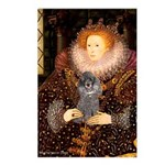 Elizabeth / Poodle (Silver) Postcards (Package of