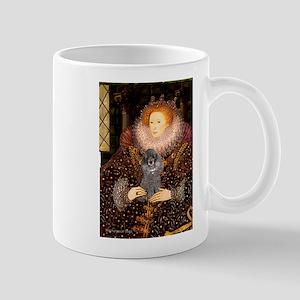 Elizabeth / Poodle (Silver) Mug