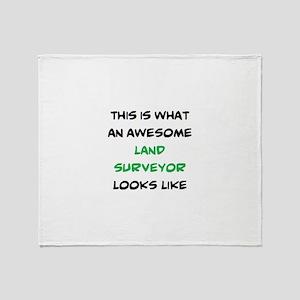 awesome land surveyor Throw Blanket