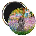 Garden / Poodle (Silver) Magnet