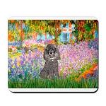 Garden / Poodle (Silver) Mousepad