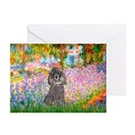 Garden / Poodle (Silver) Greeting Cards (Pk of 20)