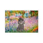 Garden / Poodle (Silver) Rectangle Magnet (10 pack
