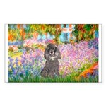 Garden / Poodle (Silver) Sticker (Rectangle 10 pk)