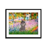 Garden / Poodle (Silver) Framed Panel Print