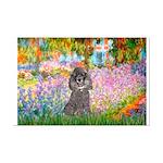 Garden / Poodle (Silver) Mini Poster Print