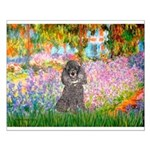Garden / Poodle (Silver) Small Poster