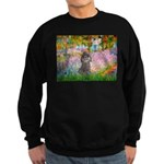 Garden / Poodle (Silver) Sweatshirt (dark)