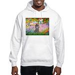 Garden / Poodle (Silver) Hooded Sweatshirt