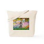 Garden / Poodle (Silver) Tote Bag
