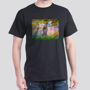 Garden / Poodle (Silver) Dark T-Shirt