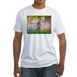 Garden / Poodle (Silver) Fitted T-Shirt