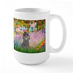 Garden / Poodle (Silver) Large Mug