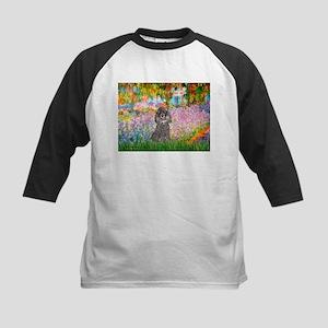 Garden / Poodle (Silver) Kids Baseball Jersey