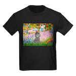 Garden / Poodle (Silver) Kids Dark T-Shirt