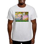 Garden / Poodle (Silver) Light T-Shirt