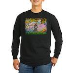 Garden / Poodle (Silver) Long Sleeve Dark T-Shirt