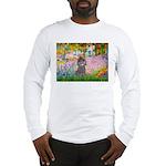 Garden / Poodle (Silver) Long Sleeve T-Shirt